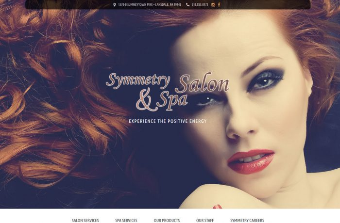 Salon and Spa Website with Parallax